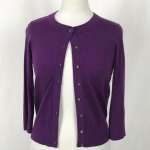 Kate Spade Jewel Button Cardigan XS